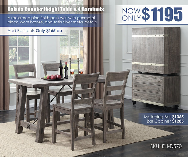 Dakota Counter Height Dining Set_D570-24_NEW