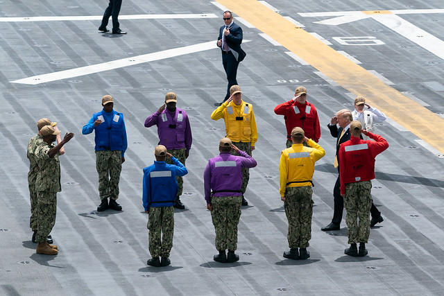 President Trump Aboard the USS WASP
