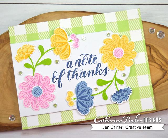 Whimsical Blooms Buffalo Plaid Jen Carter