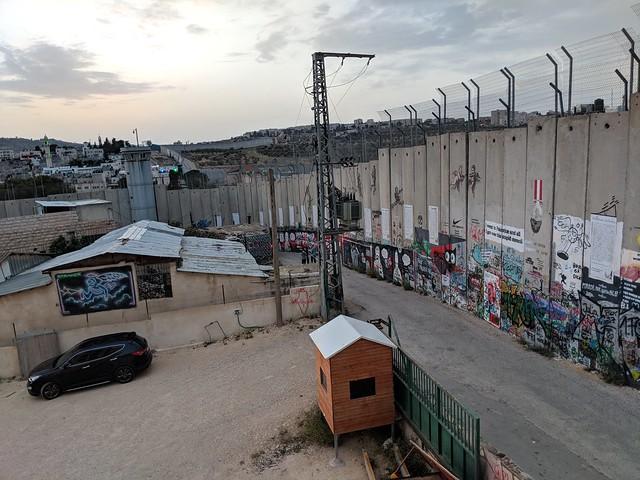 the Israeli security barrier as seen from Bethlehem