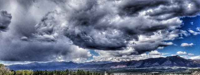 Storms over Pike's Peak