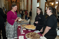 State Rep. Stephanie Cummings met with Kellie Slavinski and Colleen Murphy, of Sweet Maria's,  during Connecticut Made Day at the Capitol.