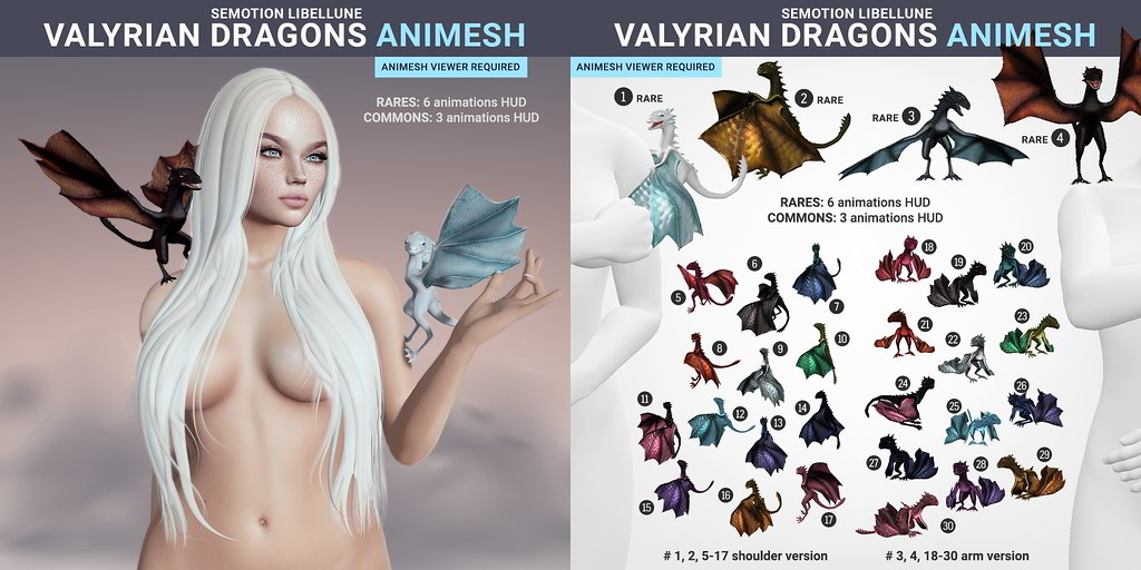 SEmotion Libellune Valyrian Dragons Animesh