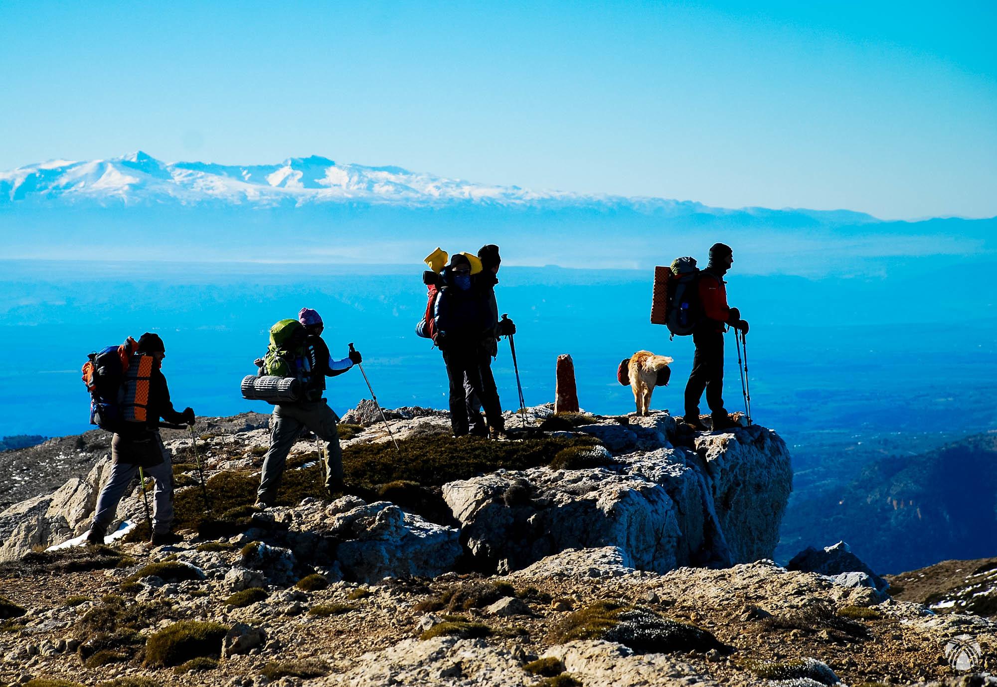 La cumbre principal de Sierra Seca