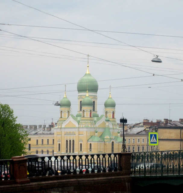 green domes ,St Petersburg
