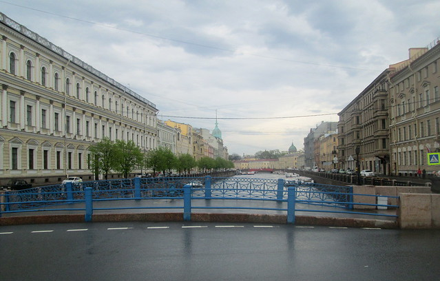 blue bridge canal, St Petersburg, Russia