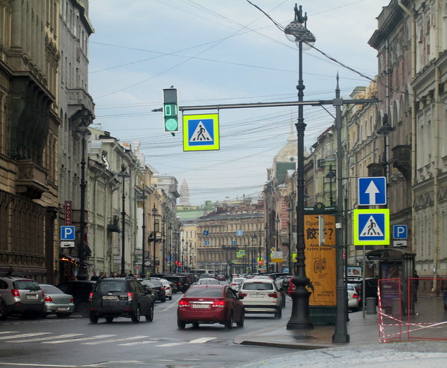 street in St Petersburg, Russia