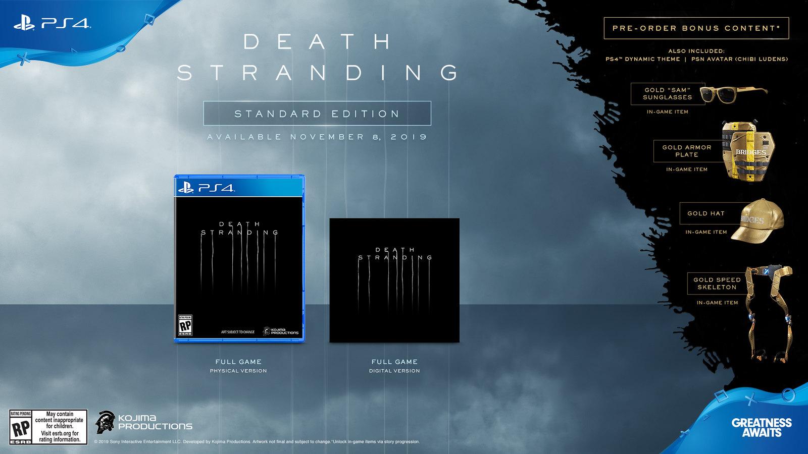 Resultado de imagen de death stranding Standard Edition