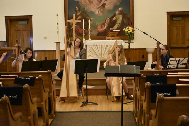 Music Sunday Harp Performance at CLC
