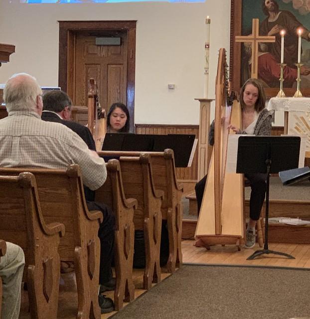 Harp Performance - Music Sunday - CLC