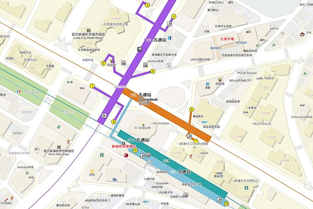 GLAD Mapo Hotel Seoul Map