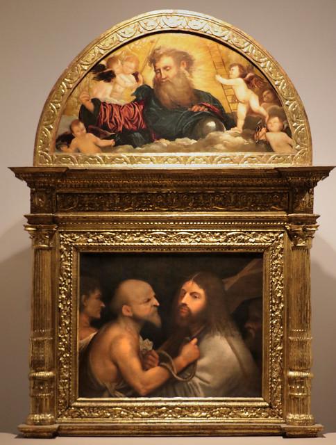 Giorgione o Giorgio da Castelfranco (Giorgio Zorzi 1476/1477 -  1510) Cristo portacroce (1508-1509) cm 71x91 - Scuola Grande di San Rocco - Venezia