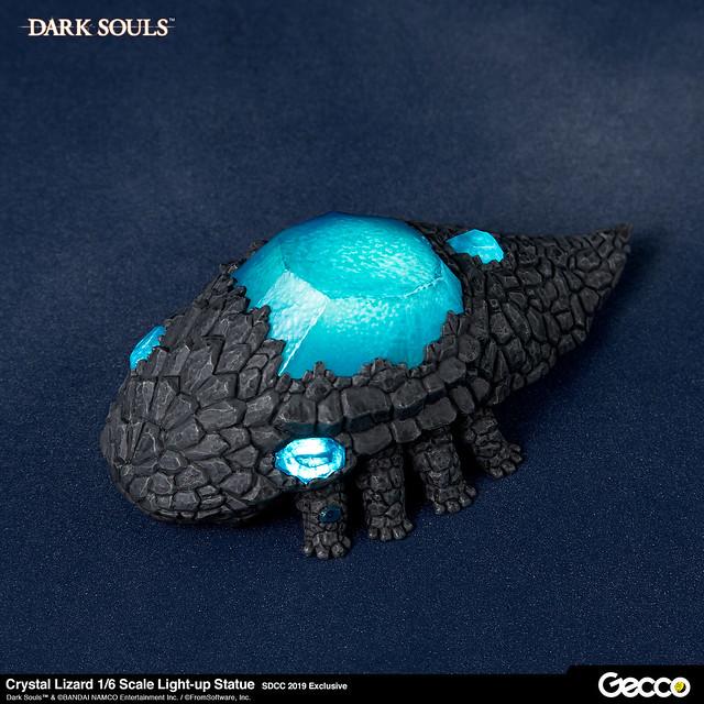 把光輝楔形石吐出來! Gecco《黑暗靈魂》結晶蜥蜴(石守;結晶トカゲ) 1/6 比例 LED 發光雕像【SDCC2019限定商品】