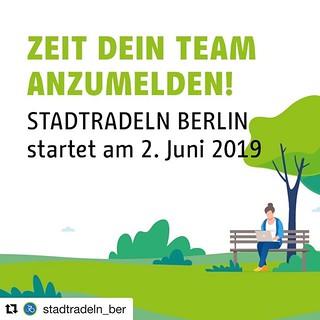 Nur noch 7 Tage, dann geht´s los mit #STADTRADELN #Berlin! Ist euer #Fahrrad schon startklar und euer Team angemeldet? #Repost @stadtradeln_ber