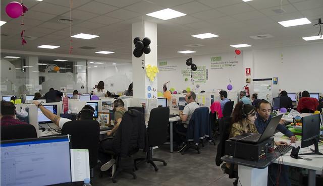 Espacio de trabajo de WeAre, compañía integrante de Grupo Ecotisa.