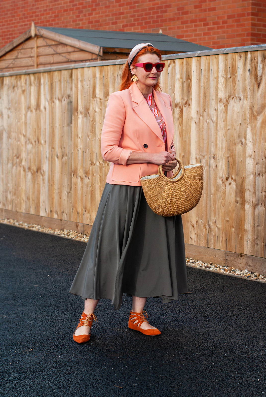 Fashion Over 40: Pink Animal Print With Peach and a Circle Maxi Skirt | Not Dressed As Lamb, 40 plus style blog