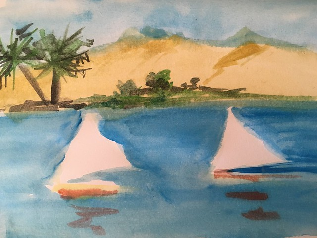 Missing Egypt #aswan #day43 #the100dayproject #quickdrawaday
