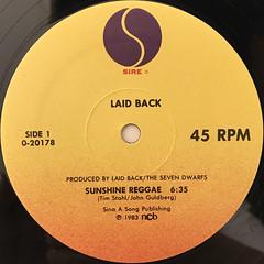 LAID BACK:SUNSHINE REGGAE(LABEL SIDE-A)