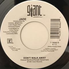 JADE:DON'T WALK AWAY(LABEL SIDE-B)