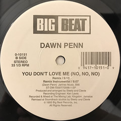 DAWN PENN:YOU DON'T LOVE ME(NO, NO, NO)(LABEL SIDE-B)