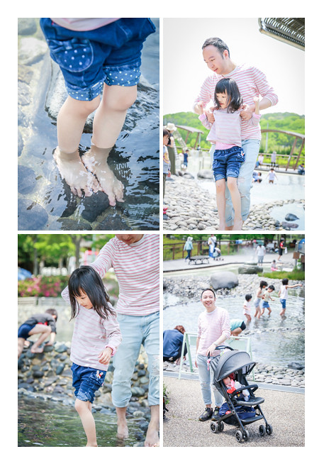 Family photo session in Morikoro Park, Aichi, Japan, water area