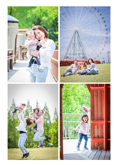 Family photo session in Morikoro Park, a client from Hong Kong, ferris wheel