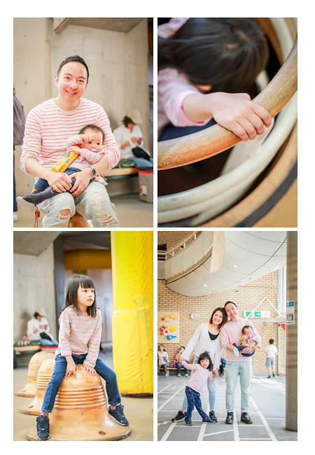 Family photo session in Morikoro Park, Aichi, Japan, indoor playground