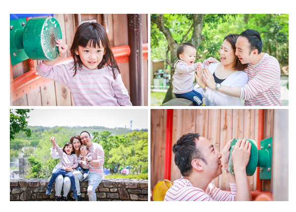 Family photo session in Morikoro Park, Aichi, Japan