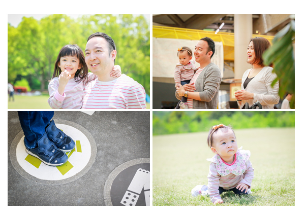 Family photo session in Morikoro Park, a client from Hong Kong
