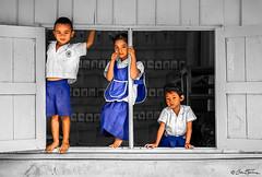 Students Trio - North of Thailand - Ben Heine Photography