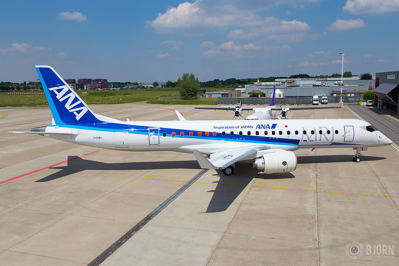 JA23MJ ANA Mitsubishi Regional Jet MRJ90STD, Maastricht Aachen Airport - EHBK/MST