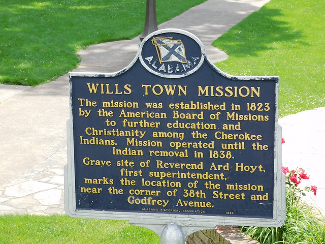Wills Town Mission Historic Marker