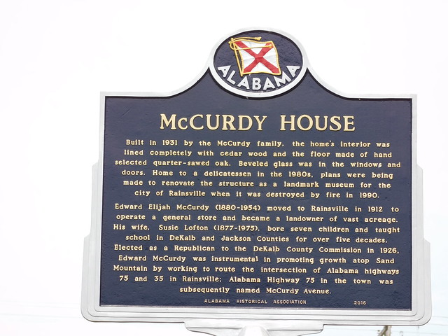 McCurdy House Historic Marker