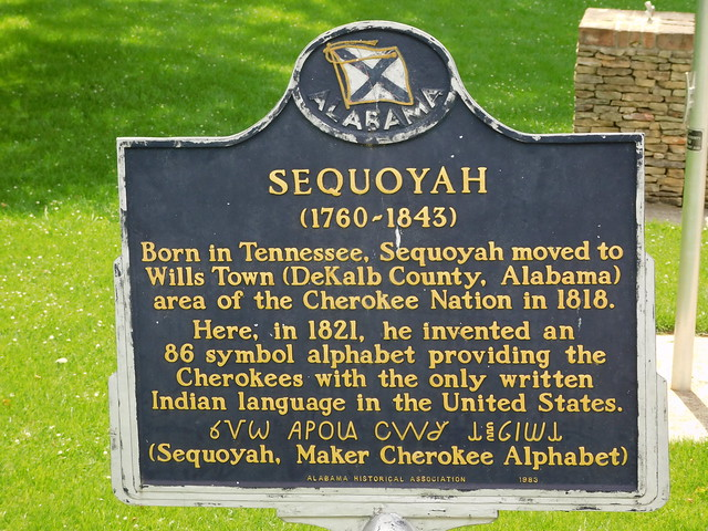 Sequoyah Historic Marker