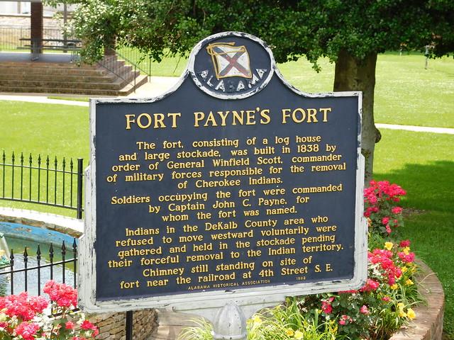 Fort Payne's Fort Historic Marker