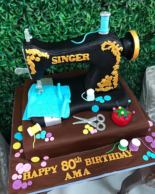 Dressmaker's Cake for 80yo Grandma by Gia de Guzman of Gian's Cake Venue