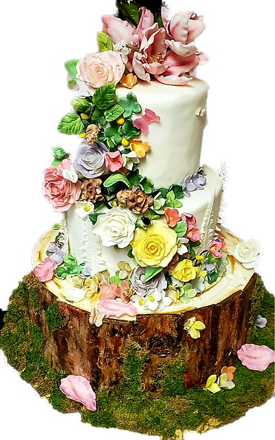 Fairytale Wedding Cake by Becky Barton of Rising Star Bakery