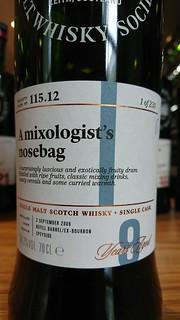SMWS 115.12 - A mixologist's nosebag