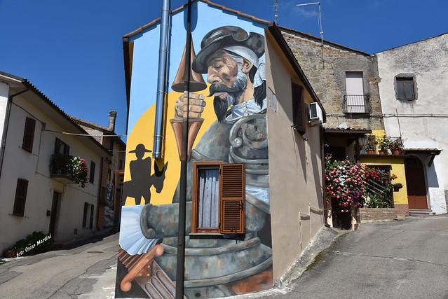 Sant'Angelo il Paese delle Fiabe, borgo dimenticato del comune di Viterbo,che, grazie all'idea di alcuni giovani le pareti delle case sono diventate opere d'arte, raccontando le fiabe più belle del nostro passato.Grande emozione nel passeggiare lungo ques