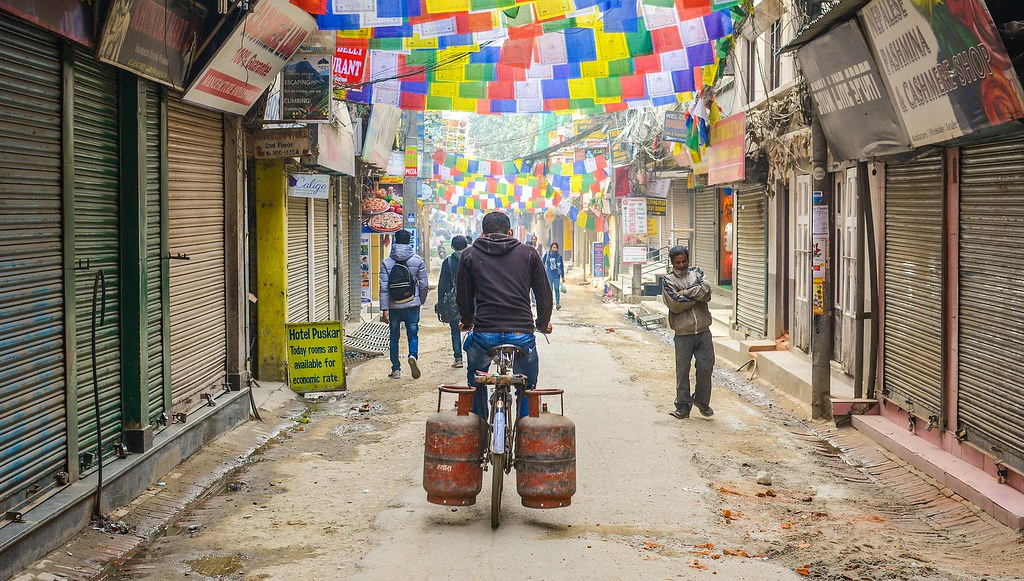 Barrio de Thamel al amanecer