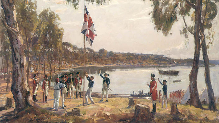 australia_day_sydney_cove_state_library_of_victoria_0