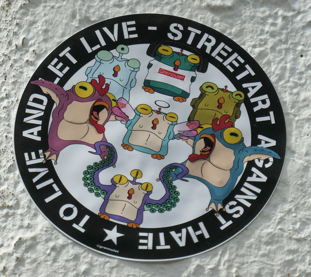 To live and let live - street art statement