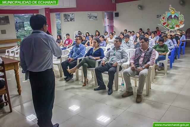 Personal administrativo de la municipalidad de Echarati se capacita en sistemas de gestión pública