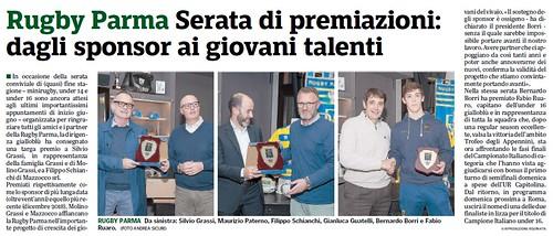 Gazzetta di Parma 29.05.19 - Premiazioni serata sponsor - pag. 58