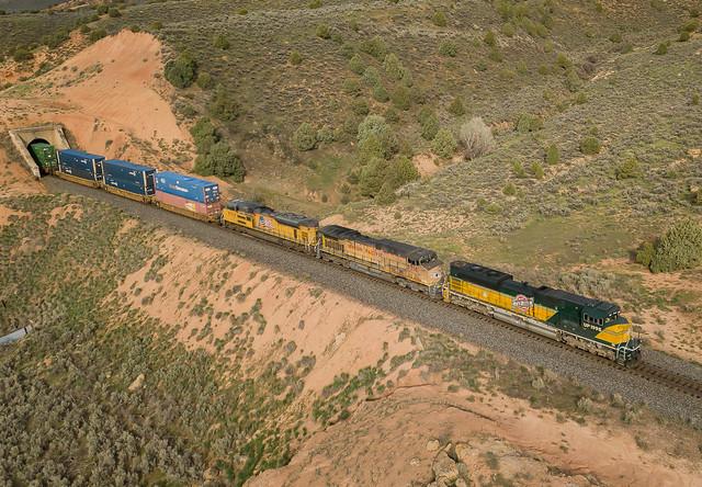 UP 1995 (SD70ACe) Train:ZSCG1-07 Castle Rock, Utah