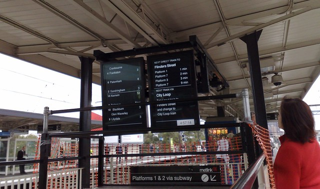 New screens at Richmond station, May 2009