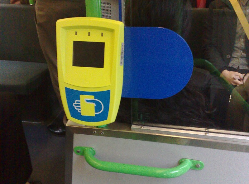 Then new Myki reader on a tram, May 2009