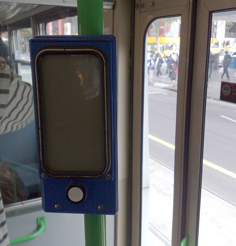 Z-class tram, Open Doors indicator, May 2009