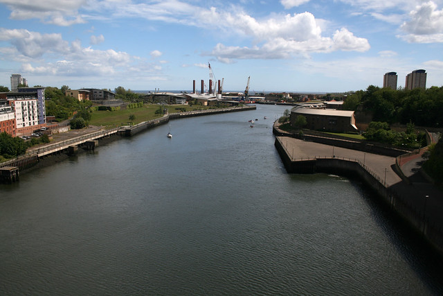 View from the Wearmouth Bridge, Sunderland