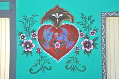 Oaxaca Mural Heart and Flowers Mexico